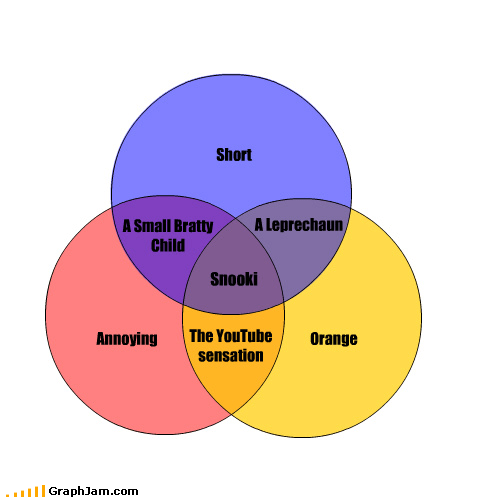 annoying,antithesis,jersey shore,orange,smurf,snooki,venn diagram,youtube