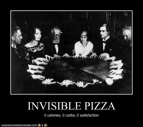 calories invisible pizza satisfaction