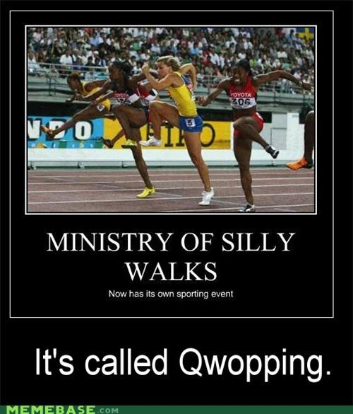 demotivational,Memes,ministry of silly walks,national hero,QWOP,Reframe