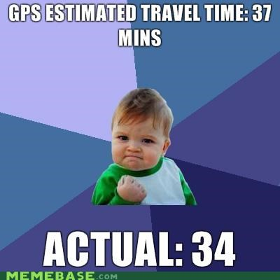estimated time,gps,success kid