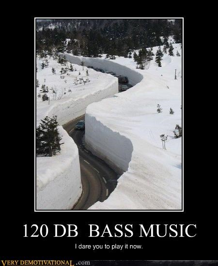 awesome bass danger Music physics snow sound