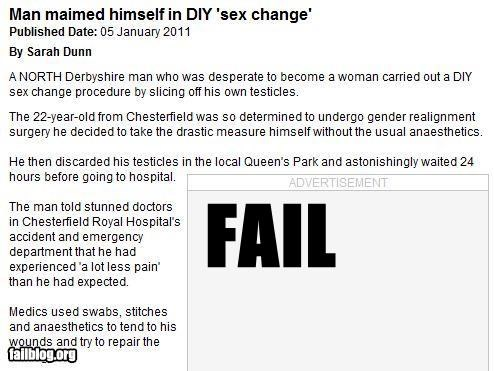DIY failboat gender bender gross Probably bad News sex change why would you do that - 4329362688
