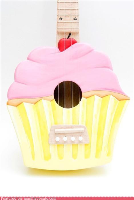 cupcake,instrument,Music,ukulele
