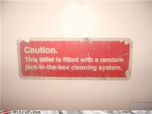caution jack in the box signs toilet wtf