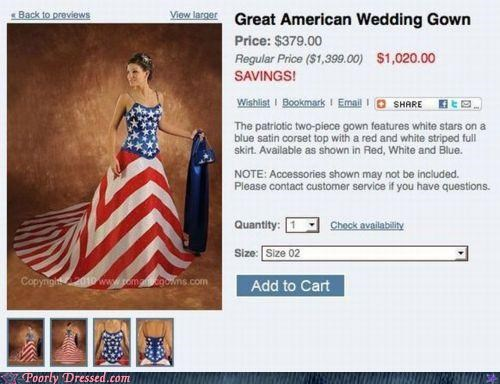 america dress patriot sale wedding - 4330172672