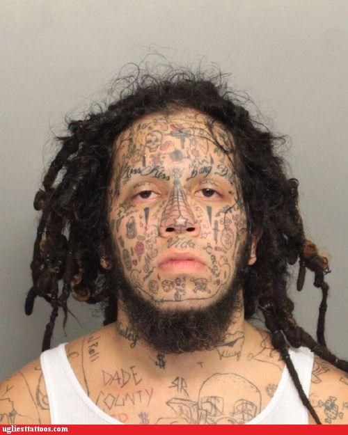 face tats,mug shots