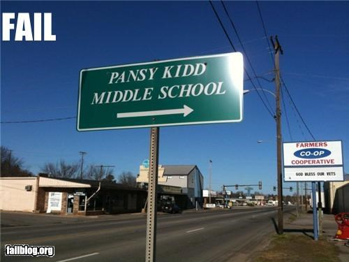 failboat g rated kids middle school names pansy signs - 4330432000