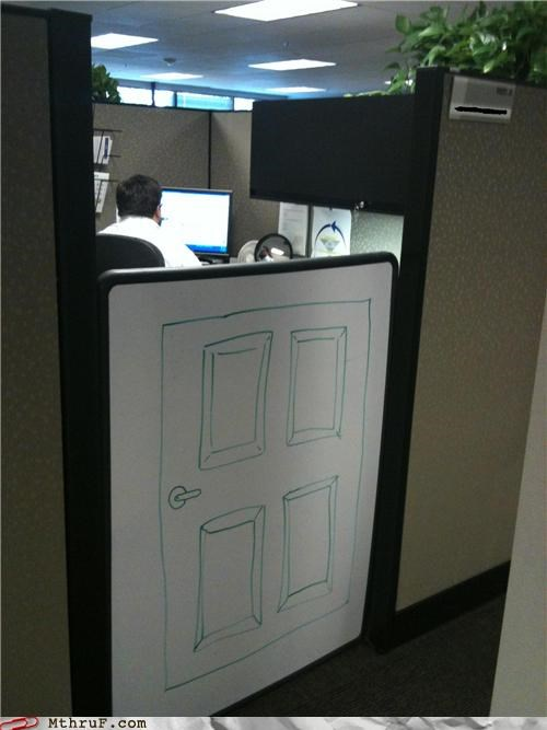 cubicle,door,funny,white board