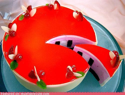 cake colorful crazy epicute mousse stripes - 4330788352