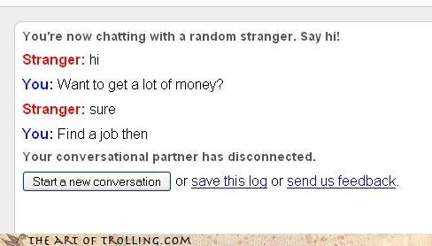 advice help job money Omegle