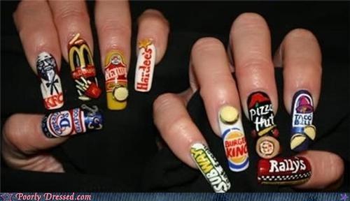 fast food fingernails manicure restaurant - 4330997504