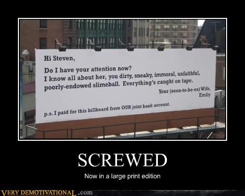 SCREWED Now in a large print edition