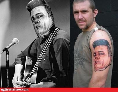 bad,portrait,johnny cash,tattoos