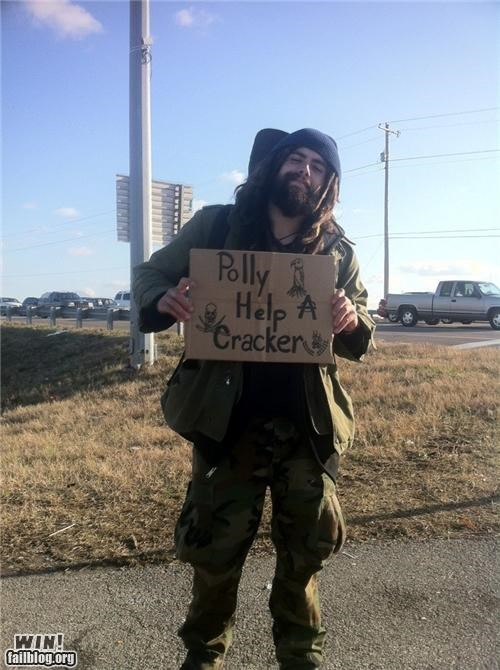 clever homeless Pirate signs - 4331922432