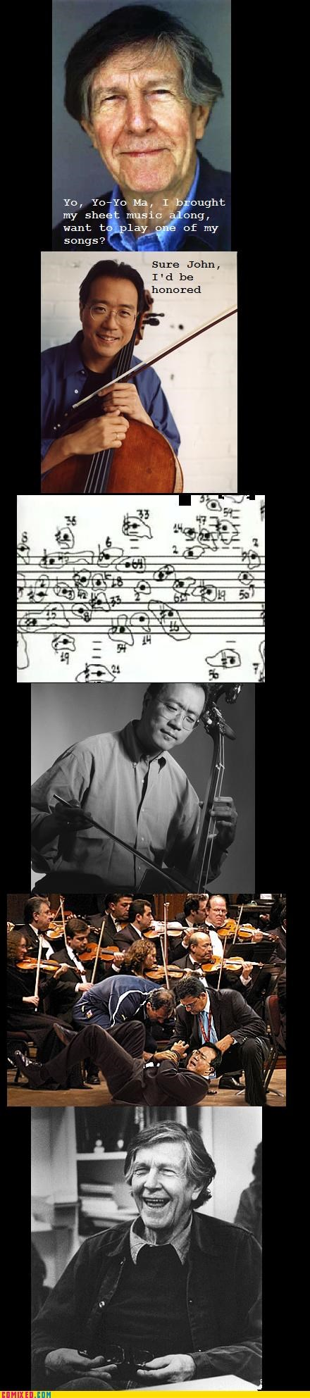 john cage,lol,Music,ouch,surprisingly highbrow,Yo-Yo Ma