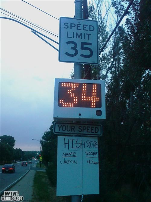 cars clever signs speeding - 4332491776