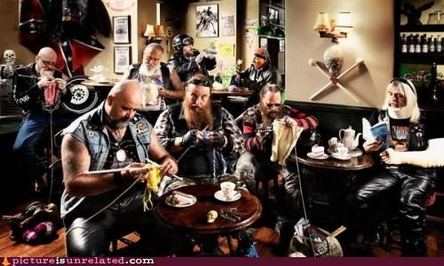 bikers,hells angel,old people,retirement home,wtf