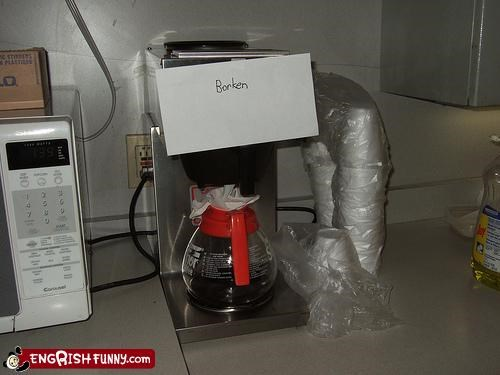 broken coffee note pot - 4332804352