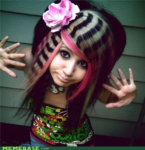 hair internet famous scene girl The Internet IRL Vanna Venom - 4333212672