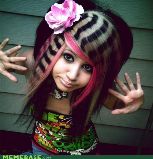 hair internet famous scene girl The Internet IRL Vanna Venom - 4333212672