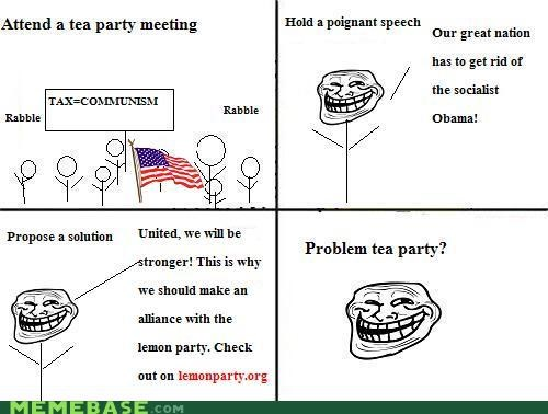 lemon party,Memes,tea party,troll party