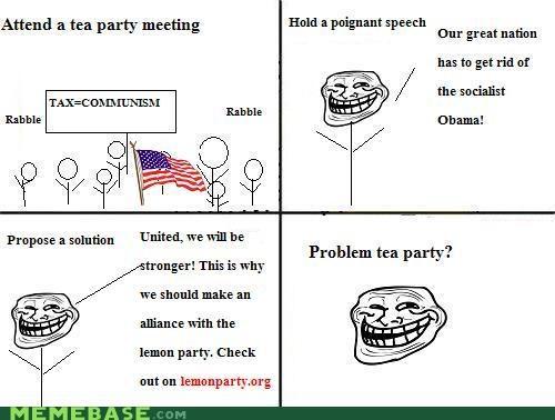 lemon party Memes tea party troll party - 4333400832