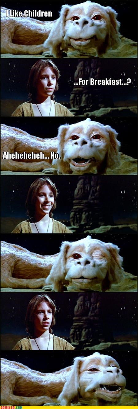 Atreyu,awesome,falcor,From the Movies,kids,lol,Never Ending Story