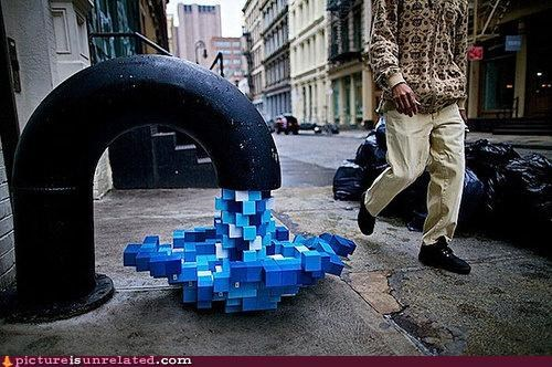 art,awesome,cubes,pipe,pixels,water,wtf