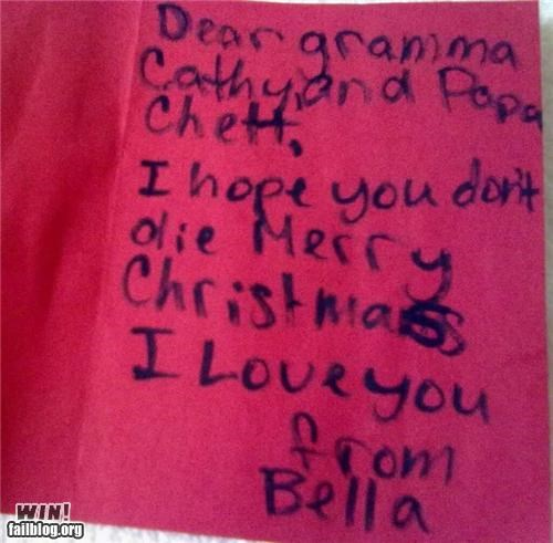 christmas cute kids notes