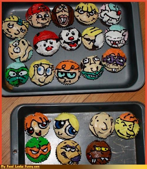 1990s,90s,90s cartoons,90s cupcakes,cartoons,cupcakes,shows,Sweet Treats,television,TV