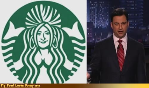 coffee,drink,jimmy kimmel,logo,snooki,Starbucks,starbucks coffee,starbucks logo