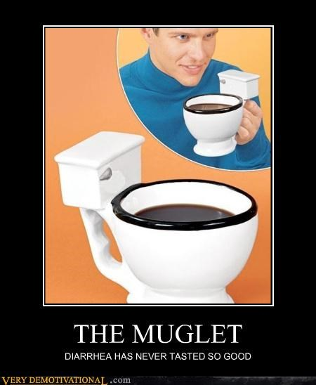 at least I hope thats coffee,coffee,diarrhea,mug,toilet