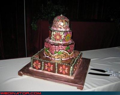 bride Dreamcake fancy wedding cake funny wedding cake picture funny wedding photos geometric wedding cake groom mosaic wedding cake wedding cake picture weird wedding cake