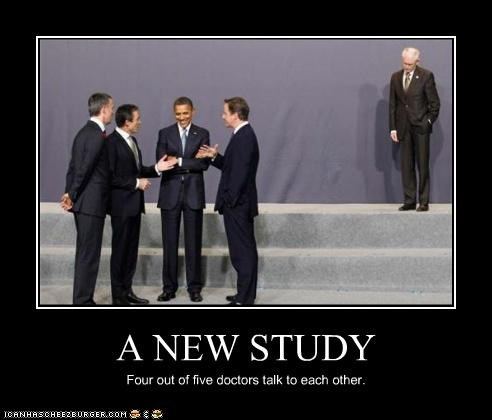 A NEW STUDY Four out of five doctors talk to each other.