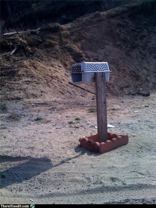 DIY,dual use,kennel,mailbox,there I fixed it