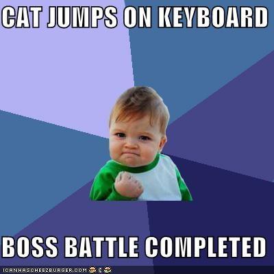 animemes boss fight cat keyboard success kid win - 4337580544