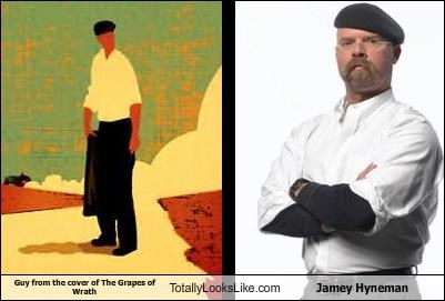 books,covers,jamie hyneman,mythbusters,the grapes of wrath