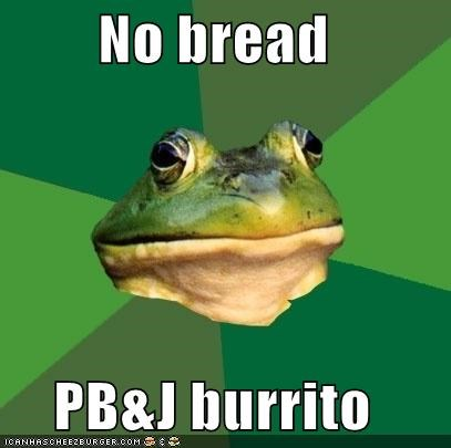 No bread PB&J burrito