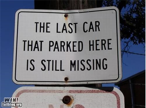clever no parking signs - 4338269696