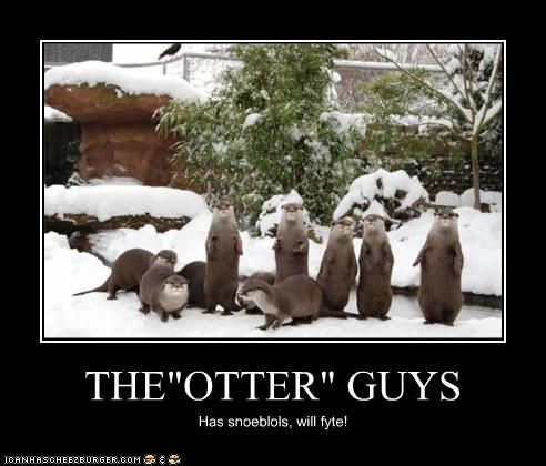 """THE""""OTTER"""" GUYS Has snoeblols, will fyte!"""