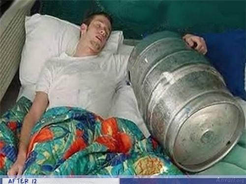 friend,good idea,keg,passed out