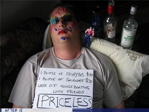 mustache,passed out,priceless,sign