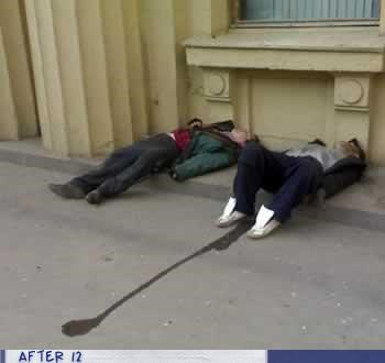 accident,passed out,piss,sidewalk,street
