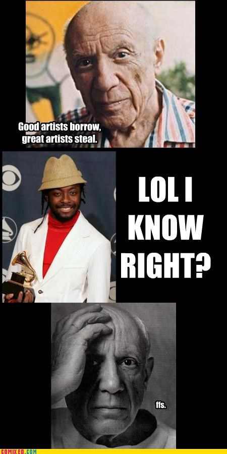 black-eyed peas,dilemma,facepalm,history,picasso,will.i.am