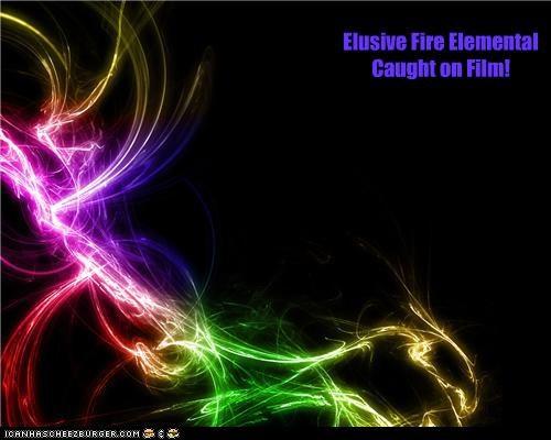 Elusive Fire Elemental Caught on Film!