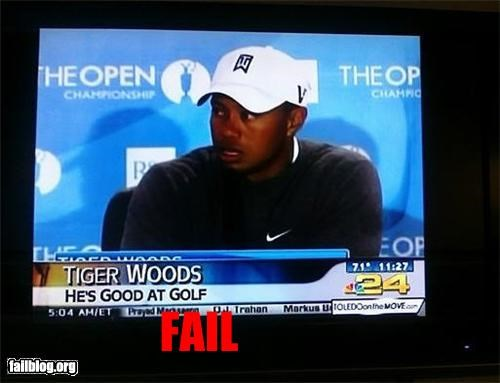 caption duh failboat golf obvious sports Tiger Woods - 4340548608