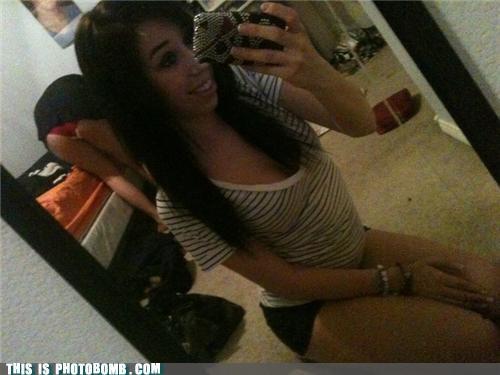 babes mirror pics photobomb underwear upskirt - 4340552960