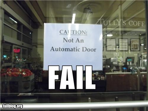 automatic door failboat note oddly specific signs - 4341892096