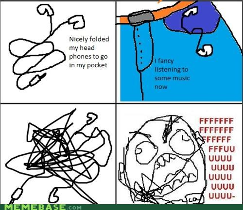 every time,headphones,rage,Rage Comics,tangled