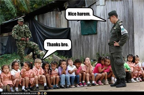 bad ass,children,harem,kids,pimp,soldiers